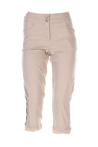 quattro pantacourts femme de couleur beige