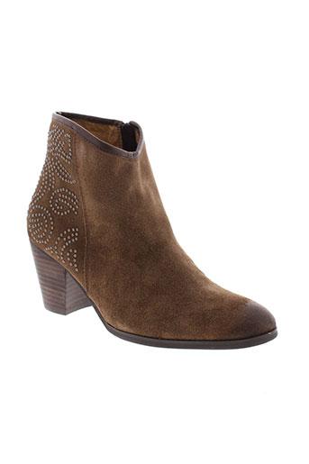 fugitive et by et francesco et rossi boots femme de couleur marron