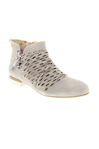 dkode boots femme de couleur blanc
