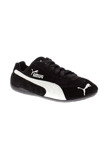 puma baskets garcon de couleur noir