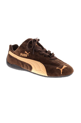 puma baskets garcon de couleur marron