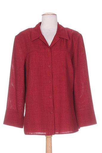christine et laure vestes femme de couleur rouge