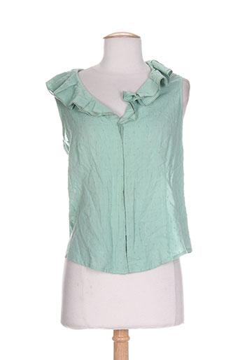 daniel amaury chemises femme de couleur vert