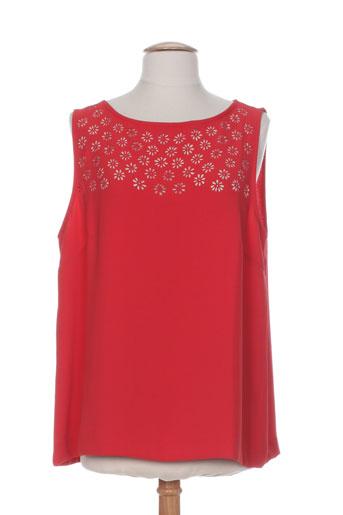 blanc nature chemises femme de couleur rouge