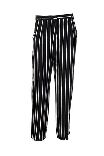 summum pantalons femme de couleur noir