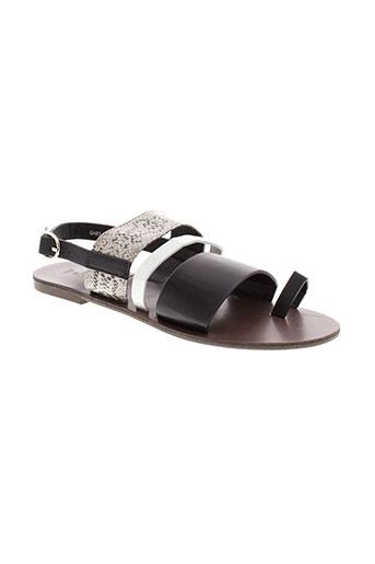 bellucci sandales et nu et pieds femme de couleur noir