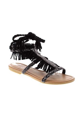 poti et pati sandales et nu et pieds femme de couleur noir