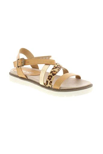 poti et pati sandales et nu et pieds femme de couleur beige