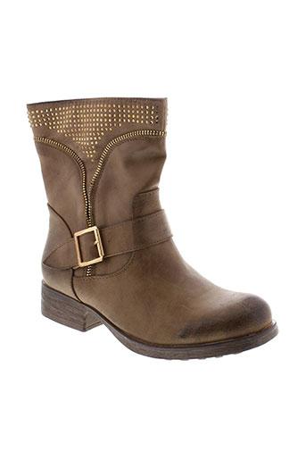 bestelle boots femme de couleur marron