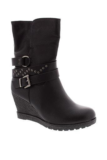 weide bottines femme de couleur noir