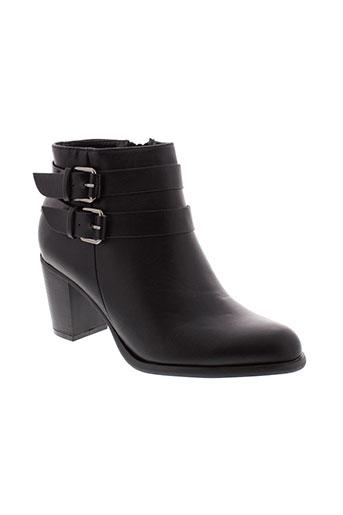 la et bottine et souriante boots femme de couleur noir