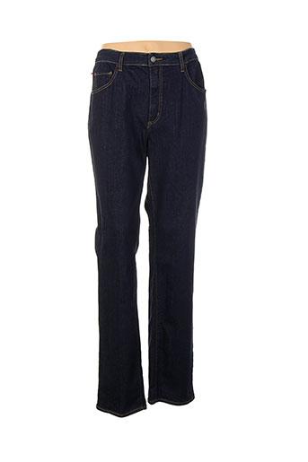 kanope jeans et coupe et droite femme de couleur bleu