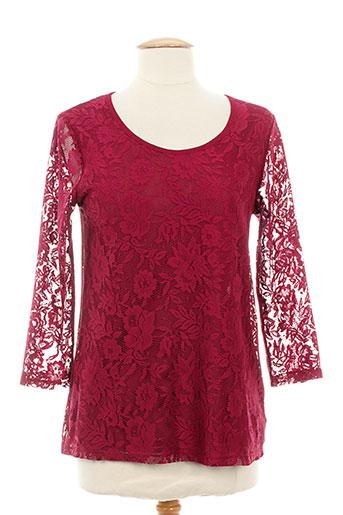 20/20 t-shirts femme de couleur rouge