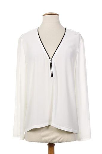 lea lau chemises femme de couleur blanc