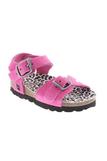 reqins sandales et nu et pieds fille de couleur rose