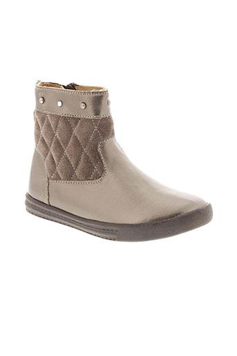 minibel boots fille de couleur beige