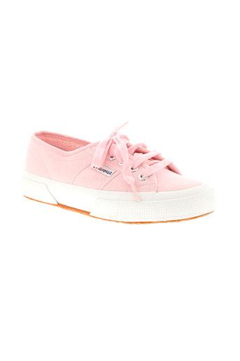superga chaussures fille de couleur rose