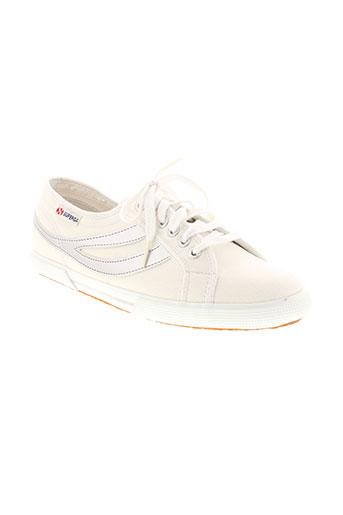 superga chaussures femme de couleur blanc