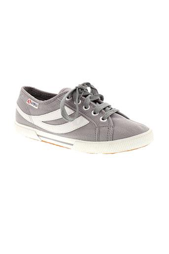 superga chaussures femme de couleur gris