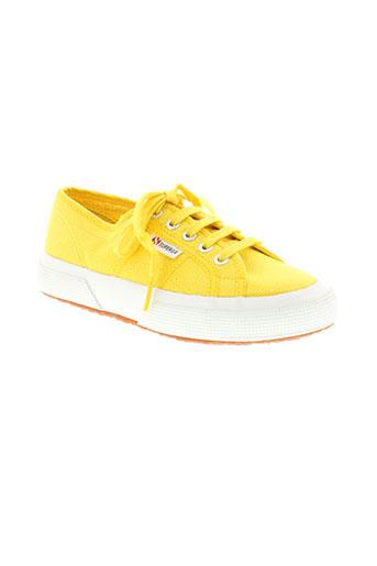 superga chaussures enfant de couleur jaune