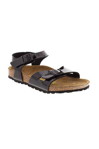 birkenstock sandales et nu et pieds fille de couleur noir