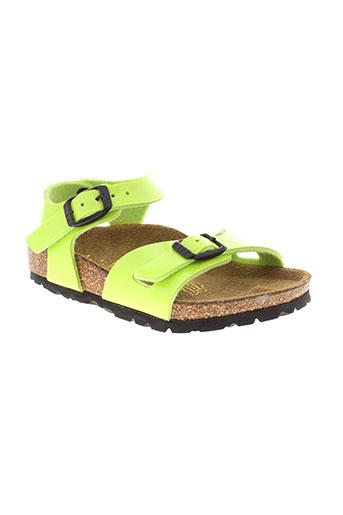 birkenstock sandales et nu et pieds fille de couleur vert
