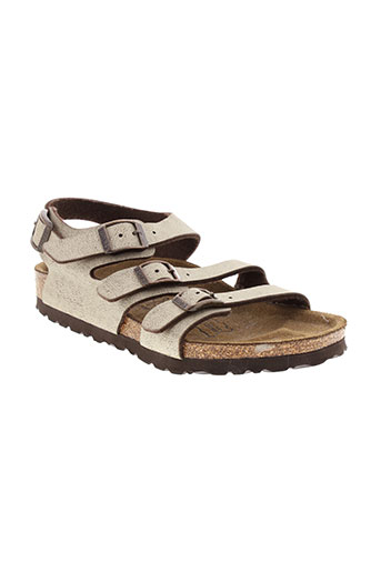 birki's chaussures fille de couleur beige