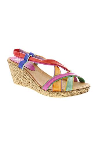 marila sandales et nu et pieds femme de couleur rose