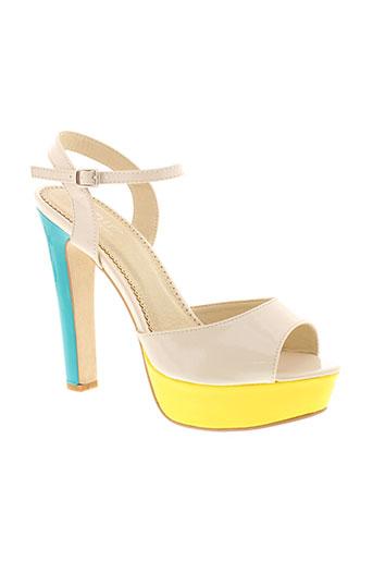 zaif sandales et nu et pieds femme de couleur beige