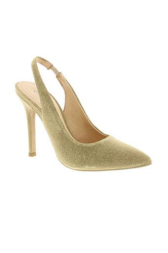 cafe noir chaussures femme de couleur jaune