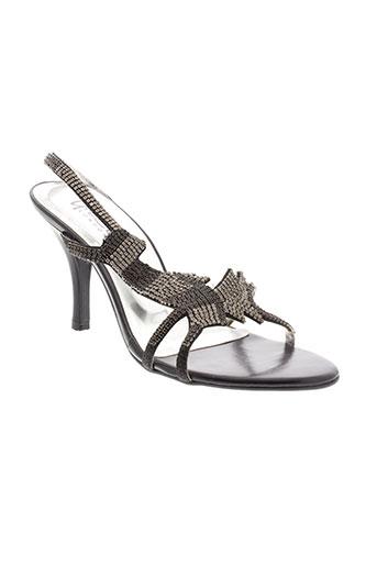 unze et london sandales et nu et pieds femme de couleur noir