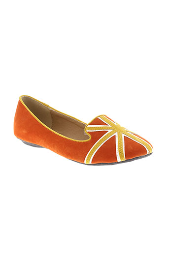cassis et cote et d et azur ballerines femme de couleur orange