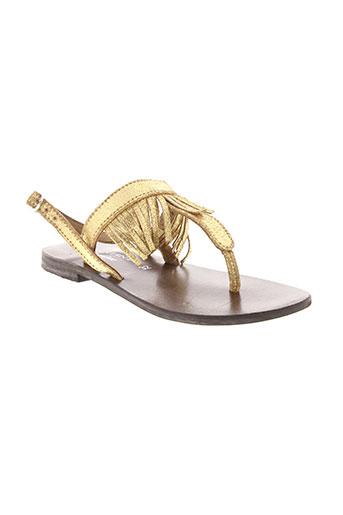 valentine la coquine chaussures fille de couleur jaune