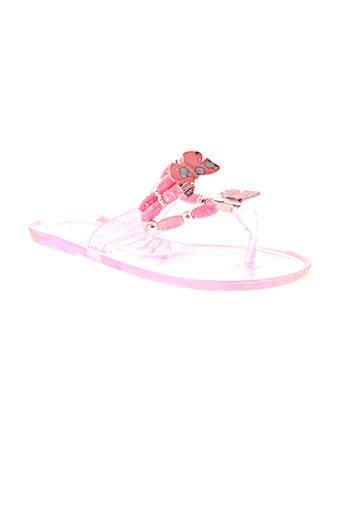 cassis et cote et d et azur tongs fille de couleur rose