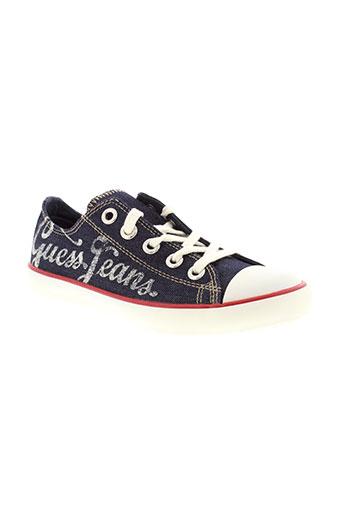 guess chaussures fille de couleur bleu
