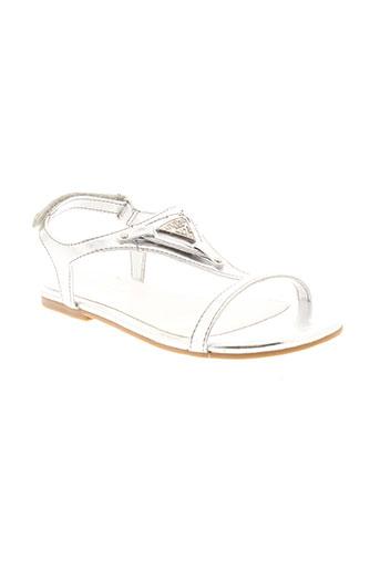 guess sandales et nu et pieds fille de couleur gris