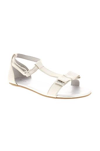 guess chaussures fille de couleur gris