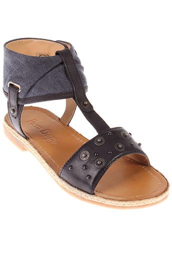 pom d'api chaussures fille de couleur noir