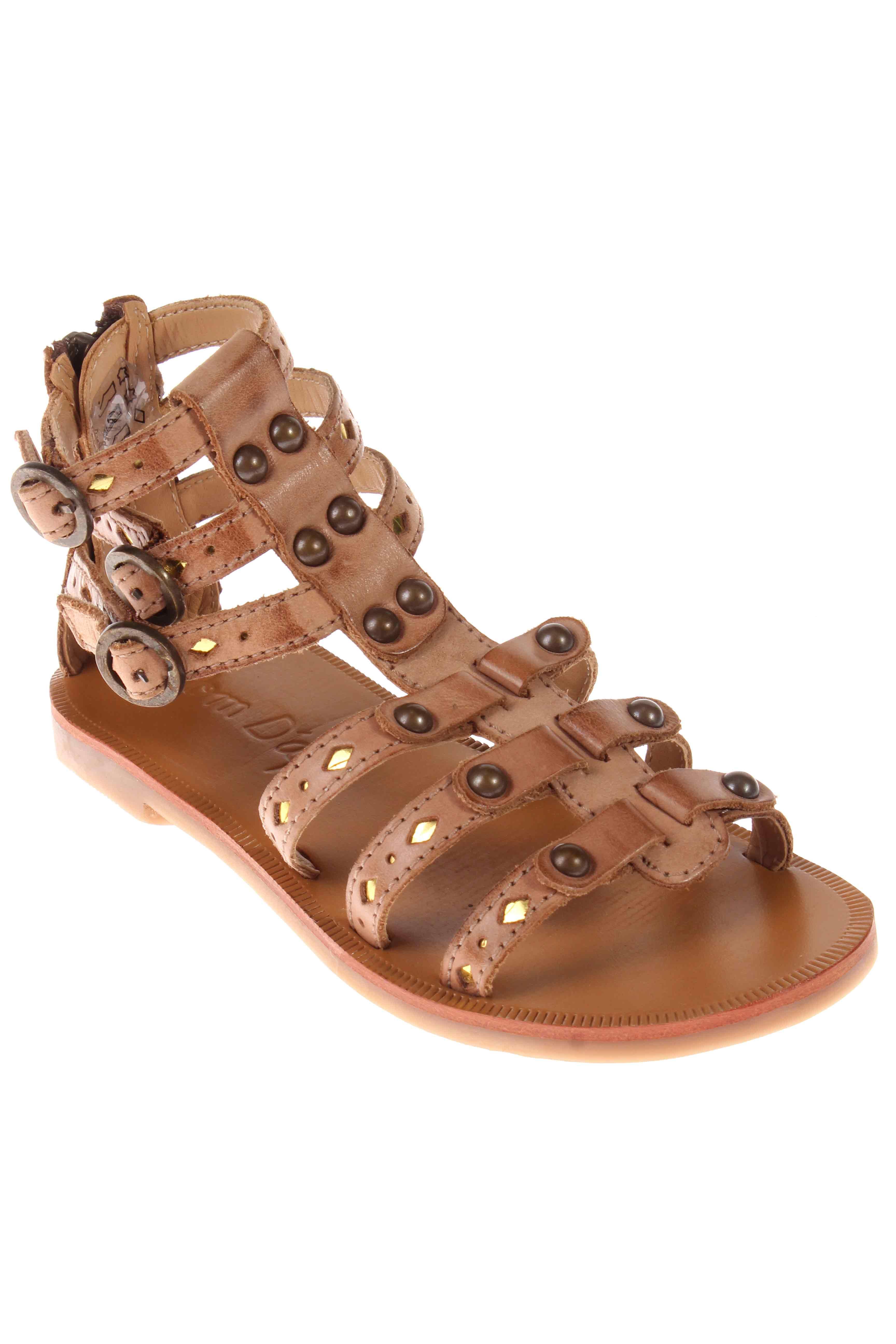 Pom d api sandales nu pieds fille de couleur marron en - Abonnement pomme d api moins cher ...