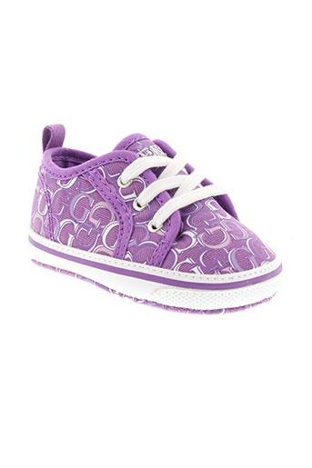 guess chaussures fille de couleur violet