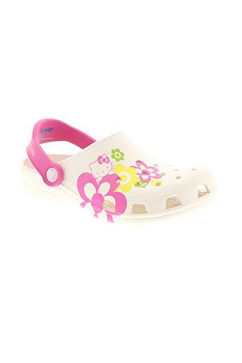 crocs chaussures fille de couleur blanc