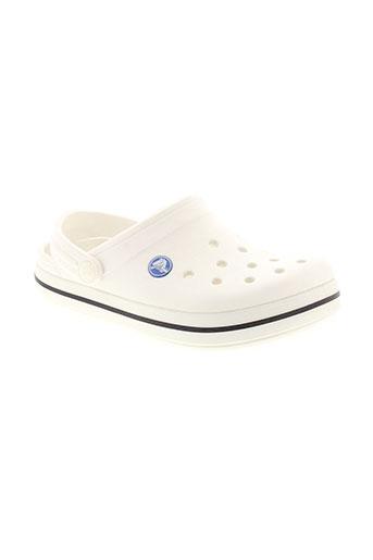 crocs chaussures enfant de couleur blanc