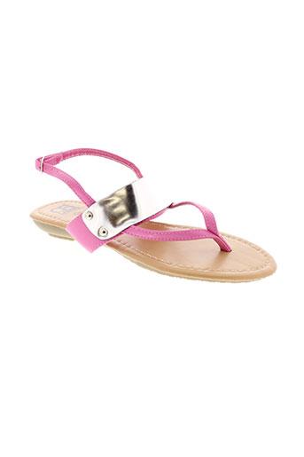 cassis sandales et nu et pieds femme de couleur rose
