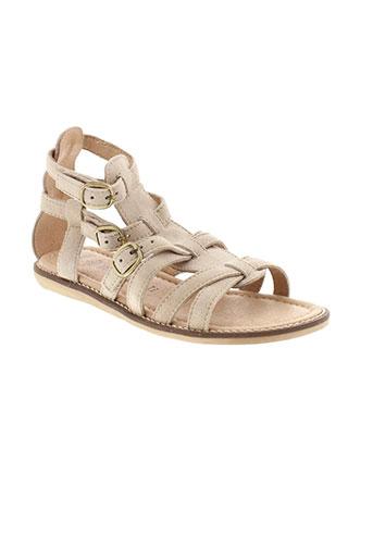 romagnoli sandales et nu et pieds fille de couleur beige