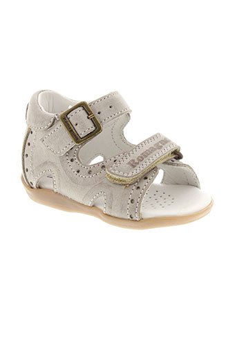 romagnoli chaussures fille de couleur beige