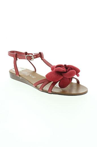 meline chaussures femme de couleur rouge