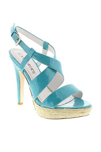 cafe noir chaussures femme de couleur bleu