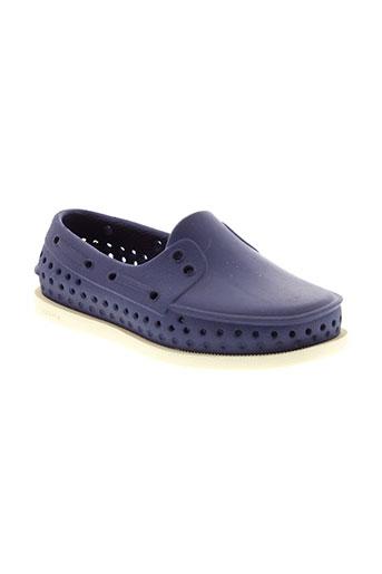 native chaussures enfant de couleur bleu