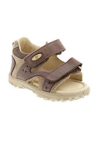 falcotto chaussures garçon de couleur marron
