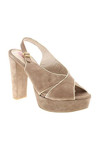 monica scott chaussures femme de couleur beige